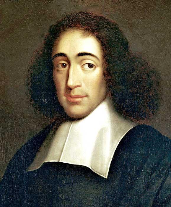 바뤼흐 스피노자(Baruch Spinoza,  1632~1677). 커먼즈의 영역은 사상적으로 스피노자의 공통관념(common concept)로부터 유래를 갖는다.