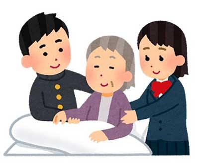 아픈 가족을 돌보는 18세 미만의 아동 또는 젊을 사람을 영 케어러라고 한다. 사진출처: https://www.irasutoya.com