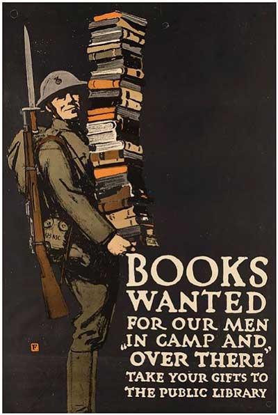 """책을 읽자, """"문득 펼쳐본 책 한 줄의 미미한 도움으로 변혁이 가능해질지도 모른다"""" by maxpixel https://www.maxpixel.net/Books-Helmet-Vintage-Poster-Military-Army-1172653"""